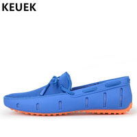 Fashion Male Loafers Autumn Men Casual shoes Slip On Breathable Flats Soft Comfortable Driving shoes 03A
