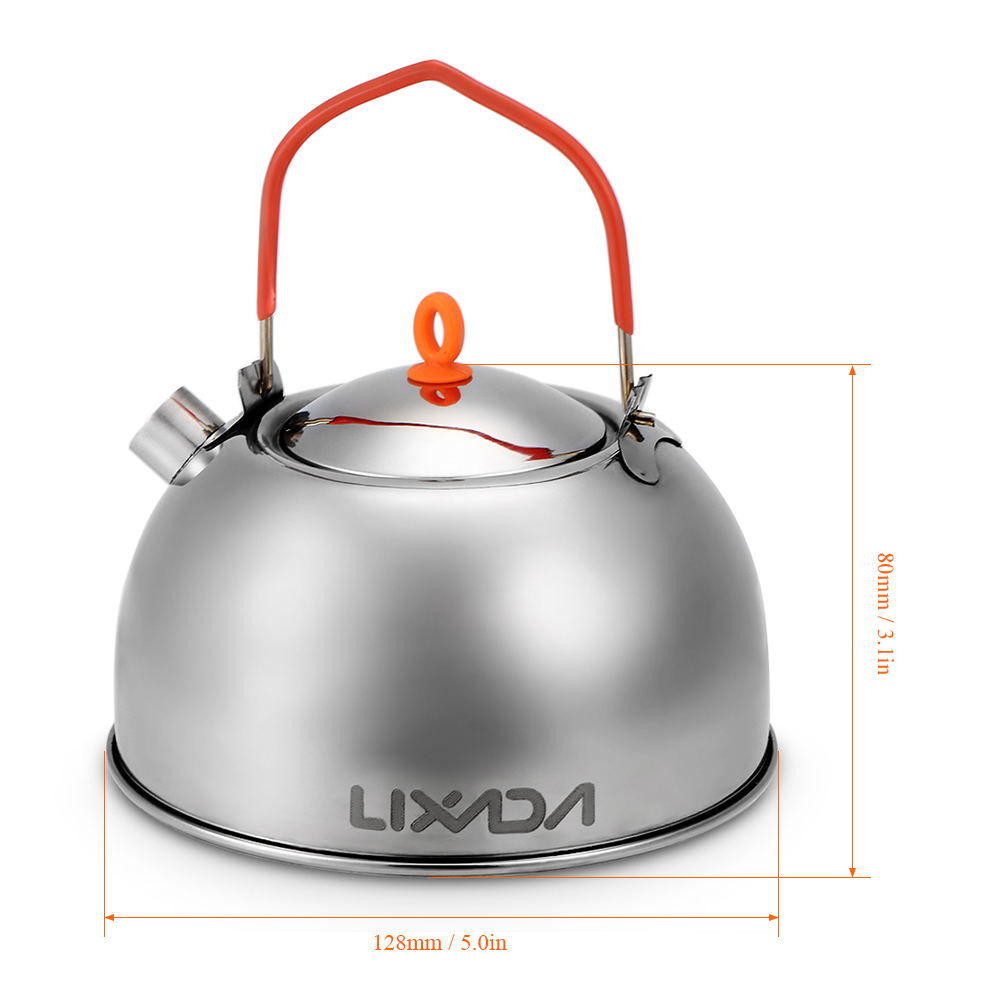 0 6L Stainless Steel Tea Kettle Portable Outdoor Camping Hiking Water Kettle Teapot Coffee Pot Outdoor Tableware in Outdoor Tablewares from Sports Entertainment