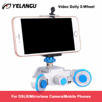 YELANGU L3 intelligent Electric Video Dolly 3 Wheel Pulley Car Rail Rolling Track Slider Skater For DSLR Camera Camcorder