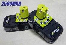 2X используются восстановленные Ryobi 18 вольт 18 В 2500 мАч RB18L25 One Plus литий-ионный Мощность инструменты Батарея для P103, P104, P105, P108