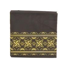 20 servilletas de mesa Vintage papel negro estampado patrón dorado decoupage de flores fiesta de boda servilletas festivas decoración para manteles