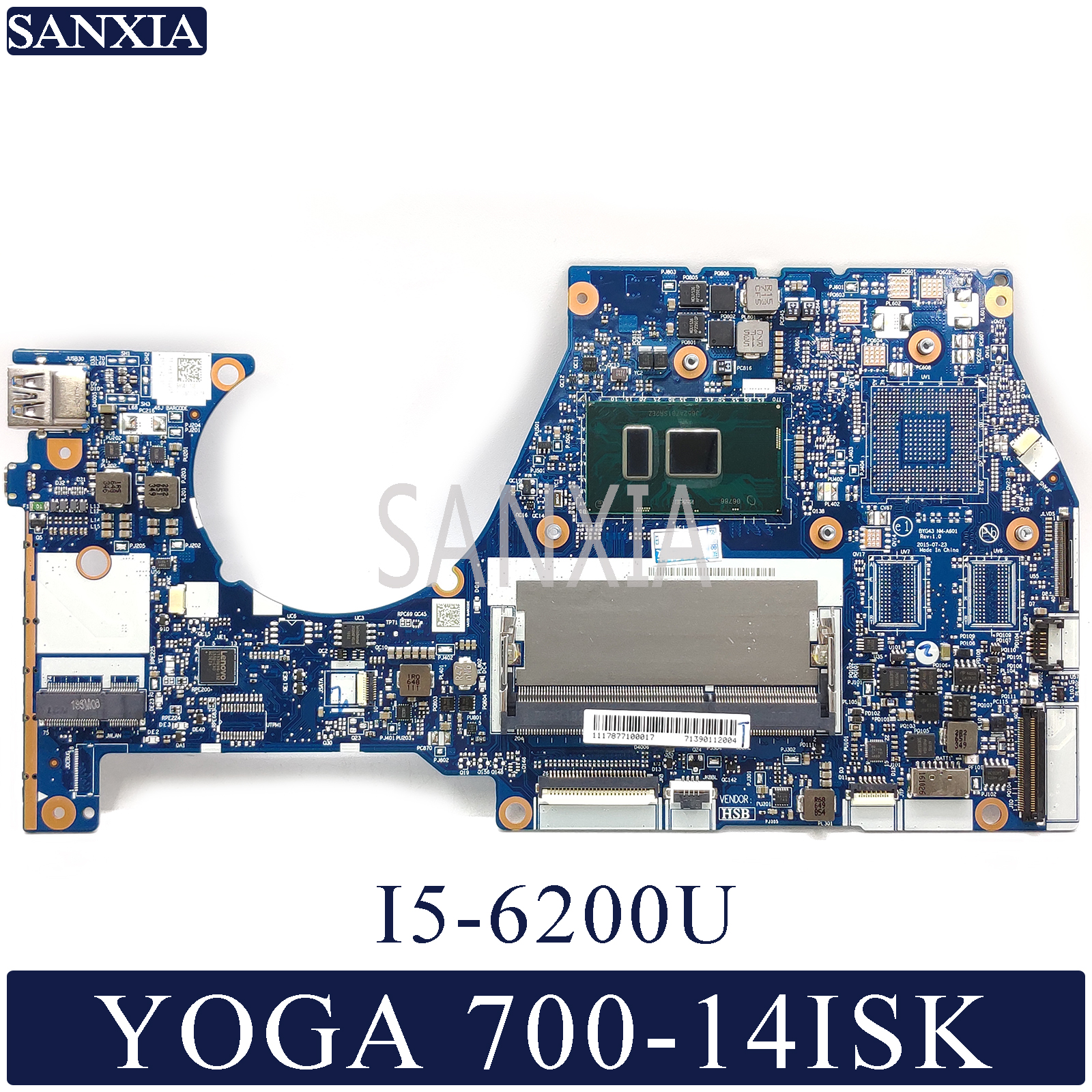 KEFU BYG43 NM-A601 Laptop Motherboard For Lenovo YOGA 700-14ISK Original Mainboard I5-6200U