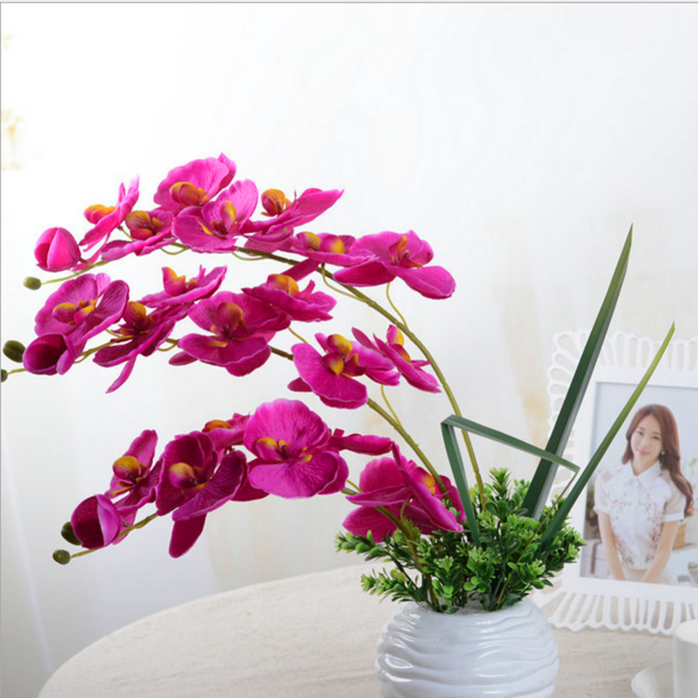 Aliexpress.com : Buy Fashion Orchid Artificial Flowers DIY Artificial  Butterfly Orchid Silk Fake Flowers Bouquet Phalaenopsis Wedding Home  Decoration From ...
