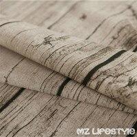 100*145 cm retro vintage Tappezzeria modello di legno tela del Tessuto di cotone al metro tessuto di canapa di cotone tessili per la Casa tessuto da cucire