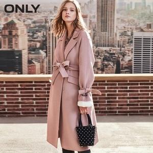 Image 3 - ONLY  womens winter new long woolen coat Side slit design Cuff tie up design