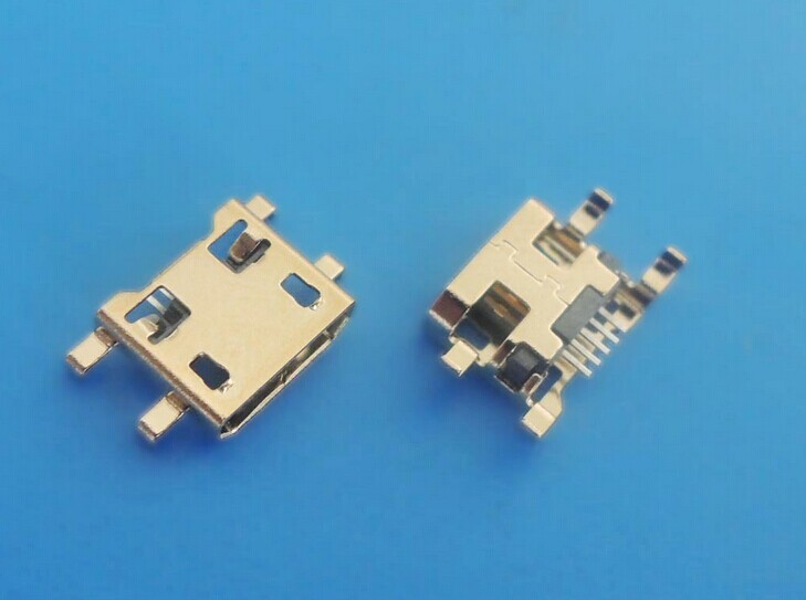 10PCS Micro USB Data Type B Female 5Pin SMT SMD Socket 4Legs DIP Soldering Connector Jack