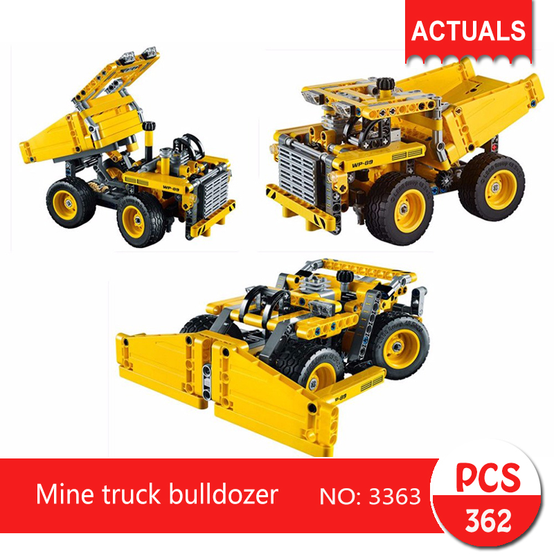 Decool 3363 362Pcs Technic series Mine truck bulldozer  Building Blocks Bricks Toys For Children  Gift genuine brand new qy6 0070 printhead print head for canon mp510 mp520 mx700 ip3300 ip3500 printer