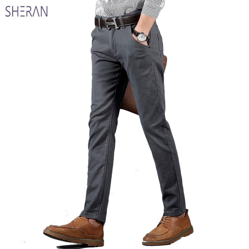 Купить брюки мужские хлопковые повседневные модные прямые штаны для