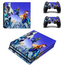 Crash Team Racing Nitro-Fueled PS4 Pro Skin Sticker For PlayStation 4 Console and Controllers PS4 Pro Skin Stickers Decal Vinyl