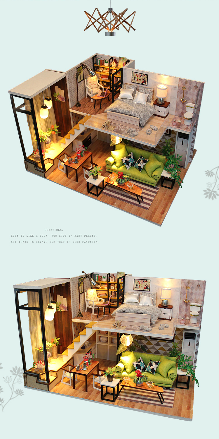 Romantic Nordic DIY 3D Miniature Loft Kit