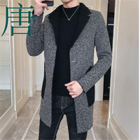 Tang cool 2019 New brand Wool Coat Mens Vintage Coats Mens Abrigo Hombre Invierno Fashion Korean Men Coat Long Trench Jacket