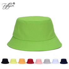 b2449a1cda7 Zgllywr Bucket Hat for Women Men Summer Cotton Fishman Washable Cowboy Sun Hat  Polo Hat Sports Panama Cap