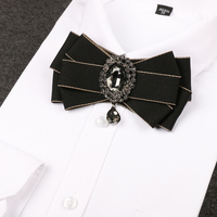 Superior Quality British Men Dress Up Bow Tie Marriage Groom Gowns Wedding Dresses Tide Bow Tie
