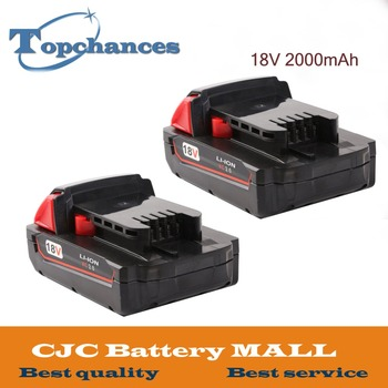 2X High Quality 18V 2000mAh Li-Ion Replacement Rechargeable Power Tool Battery for Milwaukee XC 48-11-1815