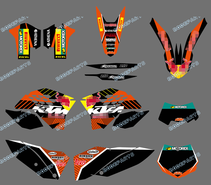 New style (BULL BLACK 0408) TEAM BACKGROUNDS DECALS STICKER GRAPHICS KIT FOR KTM Motorcycle SX XC XC-W EXC 2008 2009 2010 2011 violet 0408