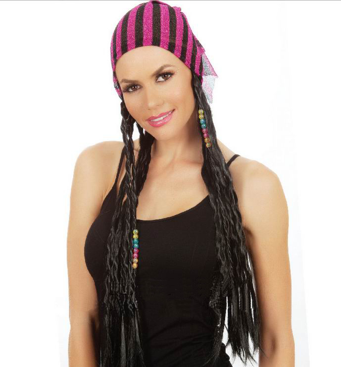 Braids Hair Women - Fashion Long Braids Hair for Women Black Sexy Party Hair Free Shipping 3SH036