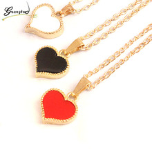 Fashion Heart Shape Pendants Necklace Collares For Women Jewelry Chain Necklaces Simple Harajuku Style Choker Bijoux Gift