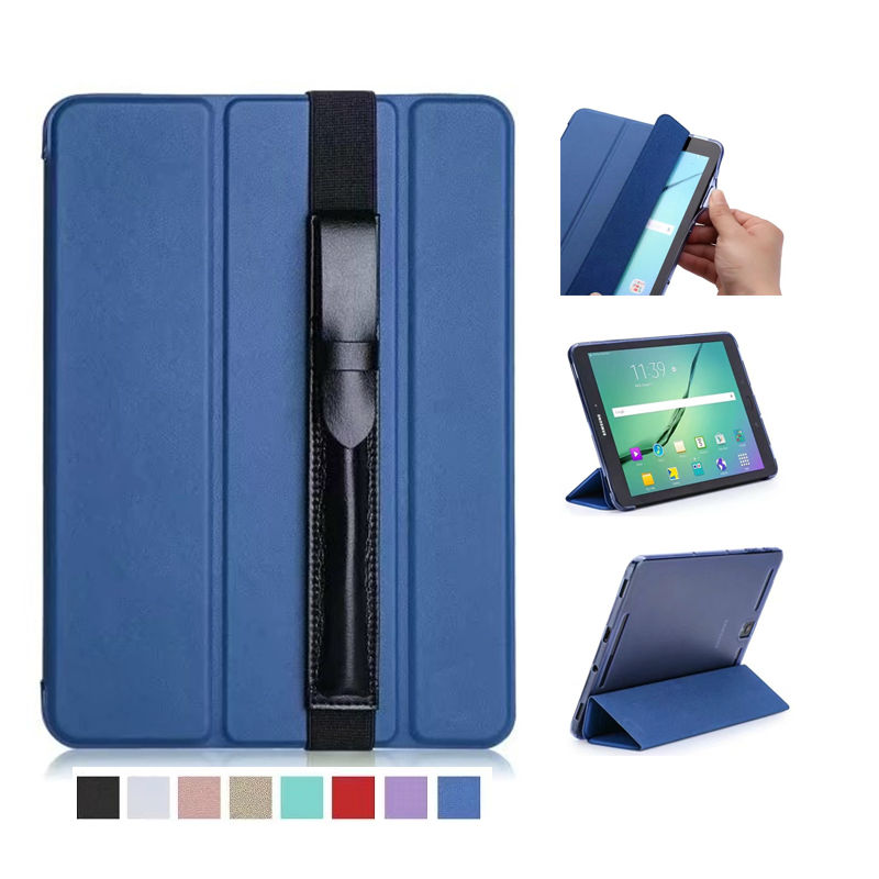 Tab S3 T820 9.7'' PU Leather Case Cover Slim Protective Stand For Samsung Galaxy Tab S3 9.7 T820 T825 Skin Fundas With Pen Bag case for samsung galaxy tab s3 9 7 slim folding flip stand cover pu leather t820 t825 gifts