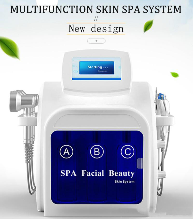 Hot Skin Beauty Equip 6 In 1 Rf Hydro Dermabra Hydra Microdermabrasion Water Oxygen Dermabrasion Facial SPA Machine