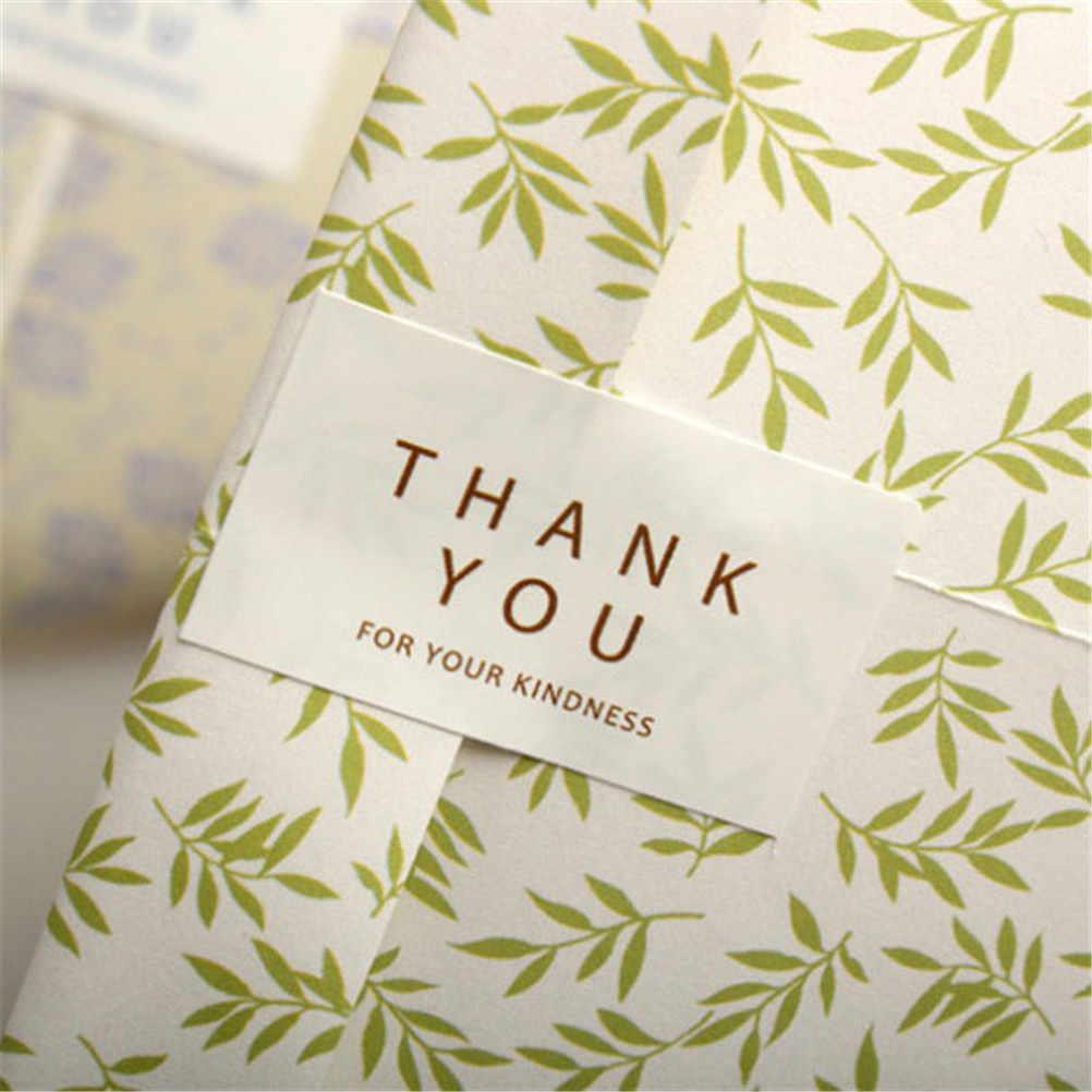 96 ชิ้น/ล็อตกระเป๋า Candy กล่องสี่เหลี่ยมผืนผ้า Handmade สีดำสีขาวขอบคุณสำหรับ Kindness bake สติกเกอร์สำหรับปาร์ตี้ของขวัญ
