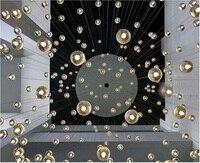 LED Crystal Glass Ball Pendant Light G4 AC110V 220V Lamp 100mm Diameter Restaurant Stair Bar Cafes