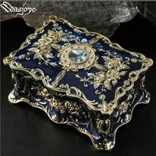retro flower carved two layer metal jewelry box jewelry organizer gift cardboard
