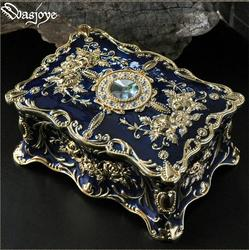 retro flower carved two layer metal jewelry box jewelry organizer gift cardboard boxes for makeup organizer metal box Z046