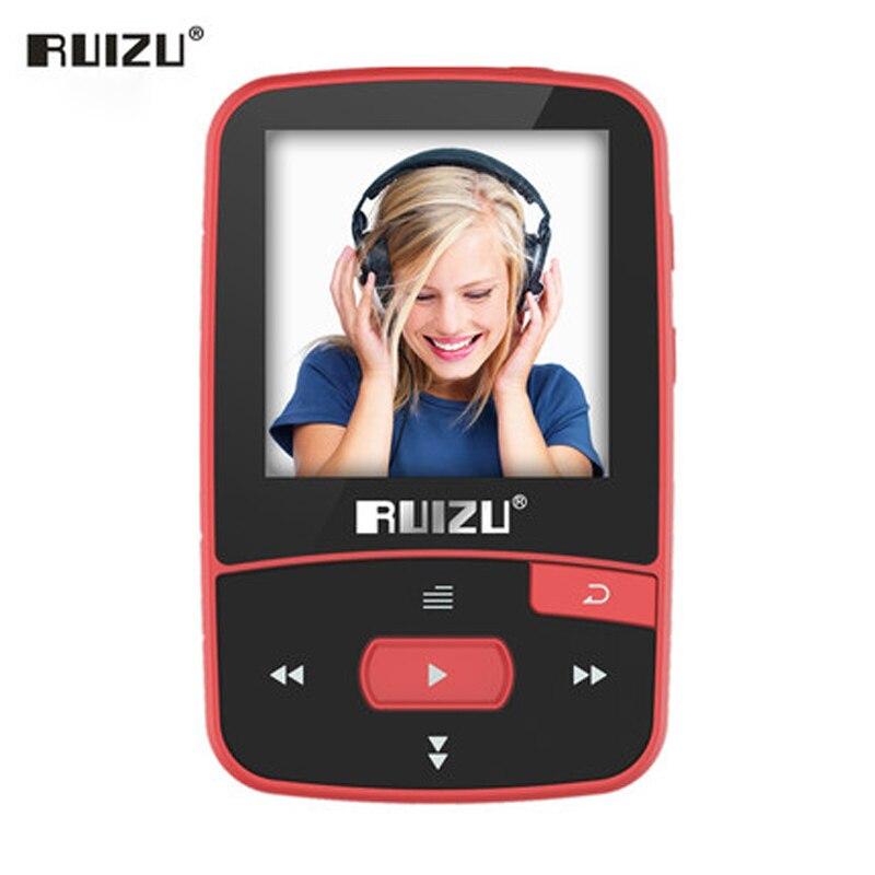 New Arrival 16GB Original RUIZU X50 Sport Bluetooth MP3 Player 8GB Clip Mini with Screen Support FM,Recording,E-Book,Pedometer