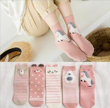 Vintage Unicorn Horn socks Women Totoro Cotton streetwear Sock For Creative Girls Summer Spring Slippers Ladies Ankle Meias