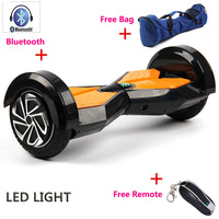 Christmas Gift 8 Inch LED Light Electric Scooter Bluetooch Bag Remote 2 Wheels Self Balance Electric