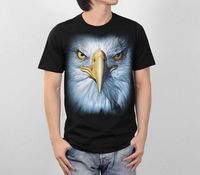 Custom Tee Shirts Crew Neck Men Casual Short Bald Eagle Bird Face Head Animal Graphic Art