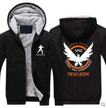 New Winter Warm Men Jacket Coat The Division hoodie Sweatshirt Anime Hoodie