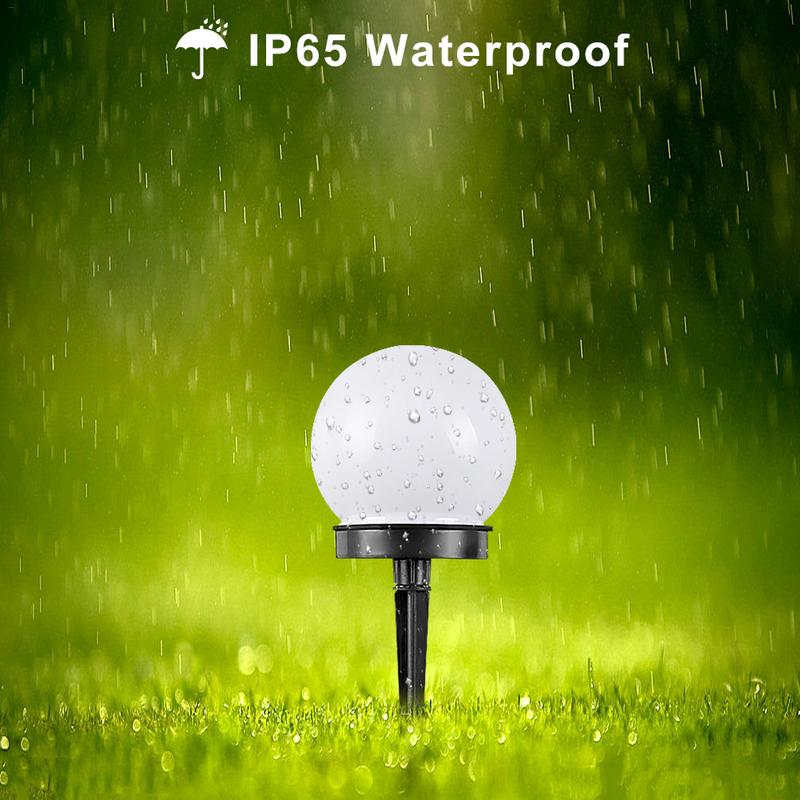 New Solar Powered LED Round Bulb Light Waterproof Outdoor Garden Yard Lawn Light Home Decoration Energy Saving Lamp 2w 6v multicolor bright solar powered led yard lamp light sensor outdoor lawn street light waterproof energy saving yl004 1a