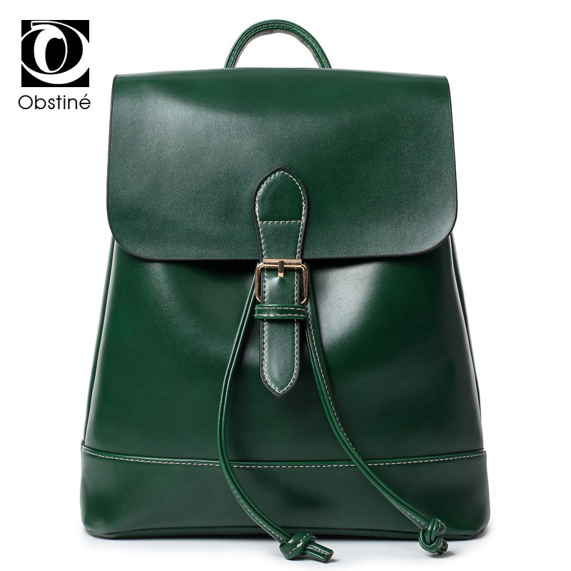 Women Leather Backpack Black Bolsas Mochila Feminina Large Girl Schoolbag Travel Bag Solid Candy Color  new women leather backpack black bolsas mochila feminina girl schoolbag travel bag solid candy color green pink beige