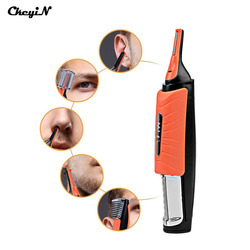 CkeyiN LED Light Multifunctional Nose Hair Trimmer Men Eyebrow Sideburn Ear Hair Removal Haircut Machine with 4 Combs S38