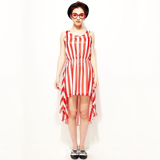 6314e409ec709 US $18.99 |2 Colors Women Chiffon Asymmetrical Dress Vertical Striped Beach  Sleeveless Tank Tops Spaghetti Strap Free Shipping 2012 Fashion-in Dresses  ...