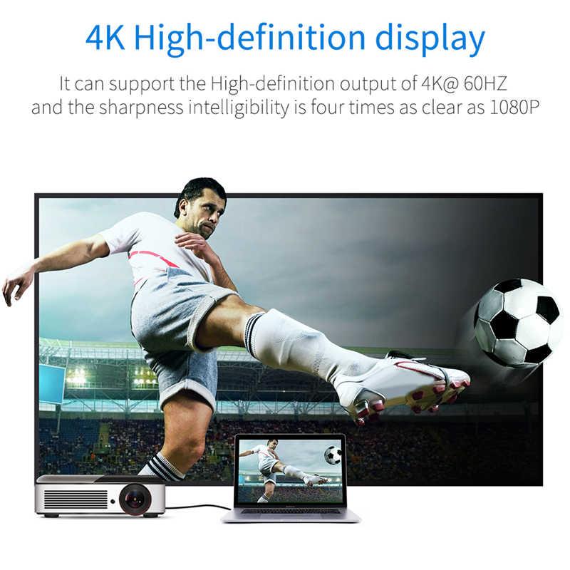 BASEUS Usb C untuk HDMI Kabel Tipe C untuk HDMI Video Adaptor untuk MacBook Huawei Mate 20 Pro Samsung Galaxy s9 HDMI untuk USB-C Extender