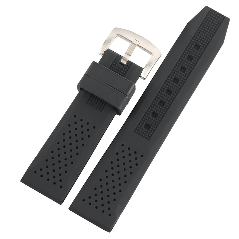 4 Colors 18mm 20mm 22mm 24mm Silicone Watch Band Breathable Watchband Waterproof Rubber Replace Wristwatch Straps for Women Men 16mm 18mm 20mm 22mm watchband silicone rubber bands for casio watches ef replace electronic wristwatch band sports watch straps