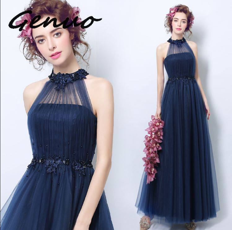 Genuo ใหม่ 2019 High   end gas field queen จัดเลี้ยง elegant และ elegant ชุด 2019 ใหม่แฟชั่นสุภาพสตรี slim dress 3207-ใน ชุดเดรส จาก เสื้อผ้าสตรี บน   1