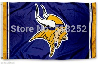 Minnesota Vikings Flagge 3x5 FT Banner 100D Polyester NFL flagge 188, freies verschiffen