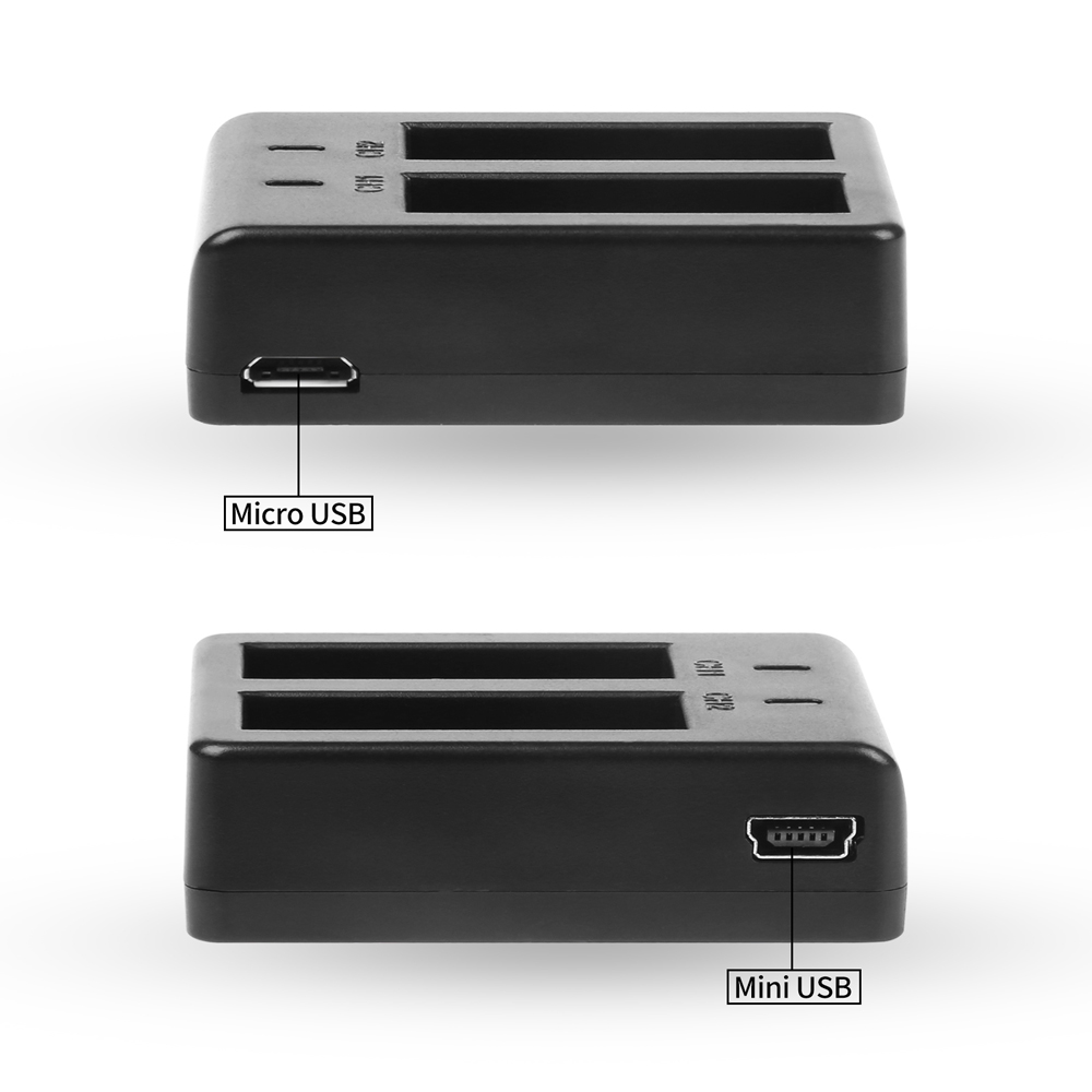 Image 5 - SHOOT Dual Port Battery Charger with 2pcs 900mAh Battery for Sjcam M10 Sj4000 Sj5000 4000 5000 Action Camera Sjcam Accessories-in Digital Batteries from Consumer Electronics
