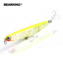 Bearking professional fishing lures,110mm 13g top water pencilbait,walkdog action ,6colors for choose,fishing tackle hard bait