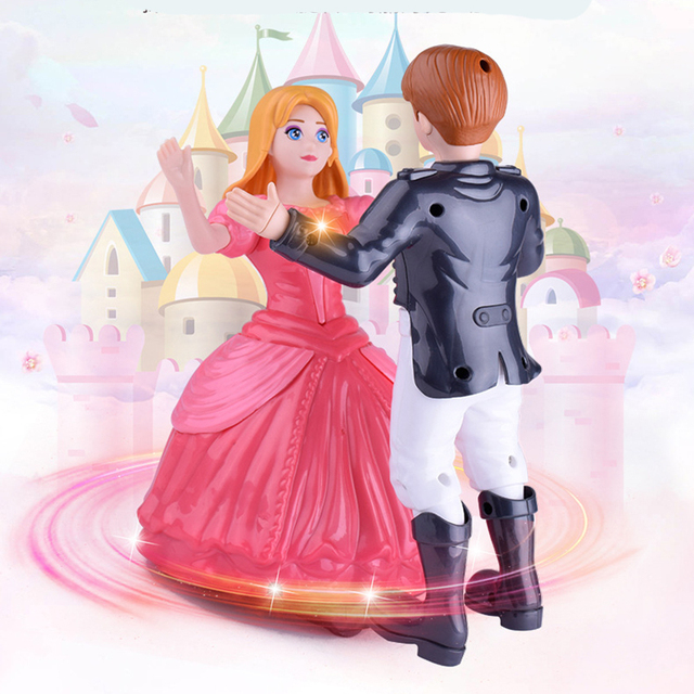 Tango Music Dancing Doll Luminous Electric Doll Toy Music Light Dance Baby Toys For Children