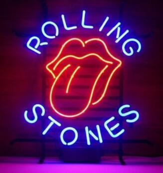 Rolling Stones Beer Glass Neon Light Sign Beer Bar