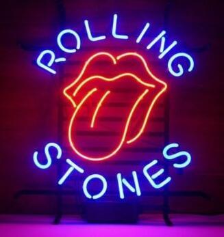 Rolling Stones Birra di Vetro Luce Al Neon Della Birra BarRolling Stones Birra di Vetro Luce Al Neon Della Birra Bar