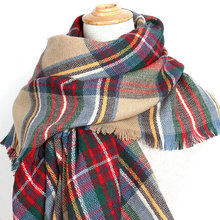 Vogue Lady Large Tartan Scarf Shawl Stole Plaid Checked Pashmina Winter Warm Scarf