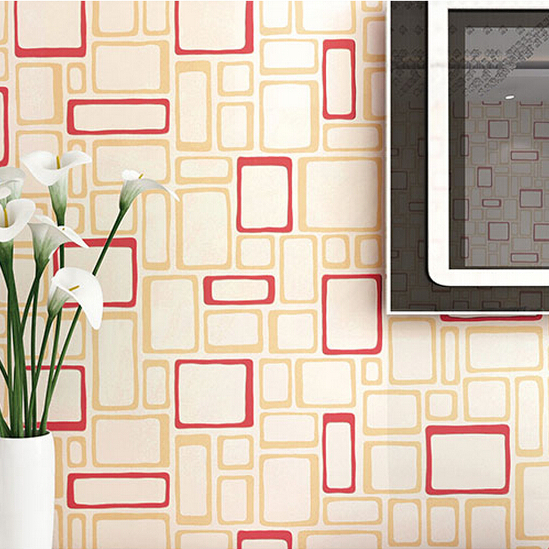 Modern wallpaper walls for living room simple red plaid wallpaper ...