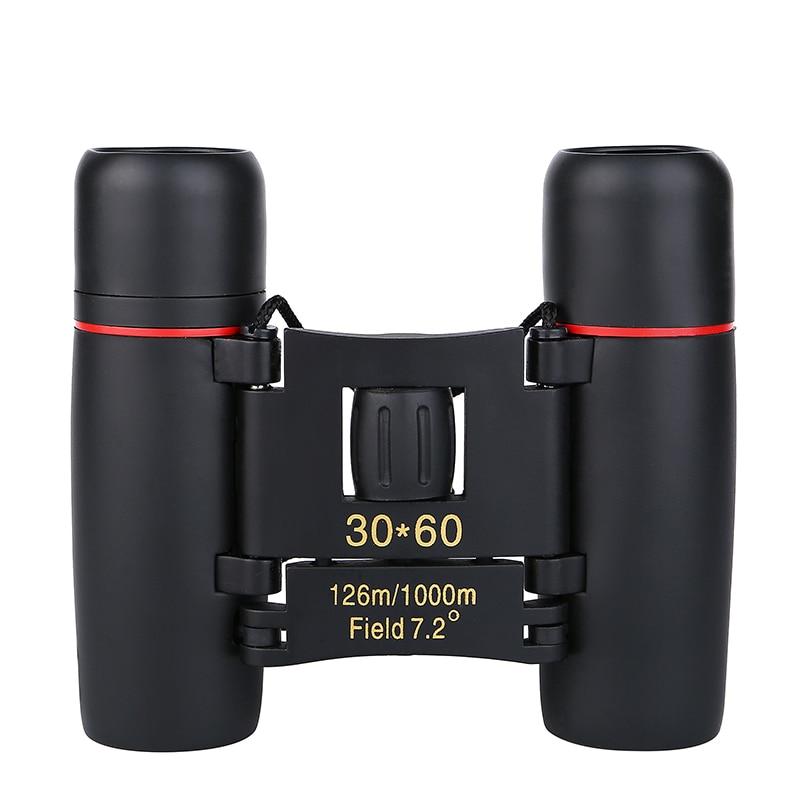 Telescopio con Zoom, binoculares plegables de 30x60 con luz nocturna baja, vista de ojo de pájaro para caza, viaje de 1000 m Palanca telescópico de acero de aleación pluma varilla de vidrio de romper martillo 19cm hasta 40cm de acero palo arma-Instrumento de coche auto- defensa de protección