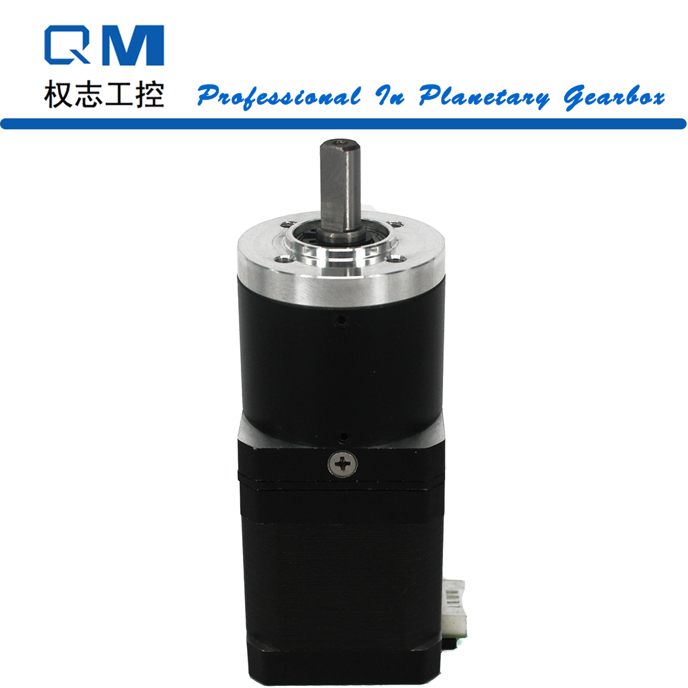 Geared stepper motor planetary reduction gearbox ratio 40:1 nema 17 stepper motor L=48mm cnc robot pump 57mm planetary gearbox geared stepper motor ratio 10 1 nema23 l 56mm 3a