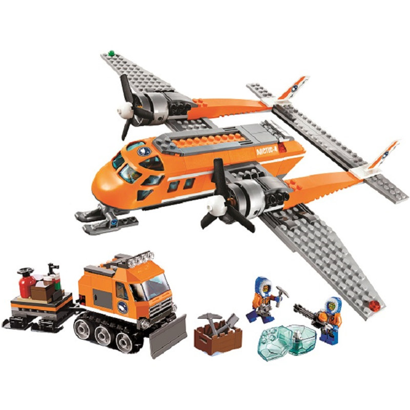 New Arctic Supply Plane Compatible with Legoings Model Building Blocks City Educational Toys for children Christmas gift